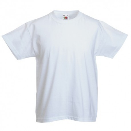 CAMISETA VALUEWEIGHT NIÑO BLANCA